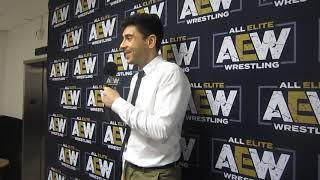 Tony Khan participates in media Q&A after AEW Fight for the Fallen in Jacksonville