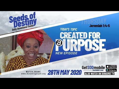 Dr Becky Paul-Enenche - SEEDS OF DESTINY - THURSDAY, 28 MAY, 2020