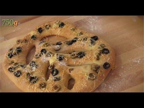 Recette de Fougasse aux olives - 750g