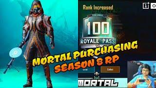 Mortal purchasing season 8 Royale Pass | Masti with 8bit mercy and technical guruji 🤣
