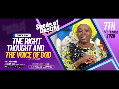Dr Becky Paul-Enenche - SEEDS OF DESTINY - MONDAY SEPTEMBER 7, 2020