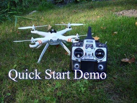 Walkera QR X350 -  FPV Version - Quick Start Demo.  Calibration of Compass, Gyro, and Accelerometer. - UC7YWQYAdKXIVOPX-oedoOUQ