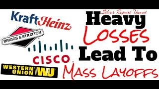 Stock Market Losses And Negative Earnings Reports Lead To Mass Layoffs 2019