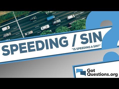 Is speeding a sin?