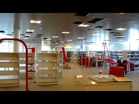 Timelapse of new library construction