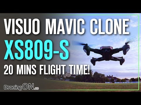 DroningON | Visuo XS809S Battle-Shark (20 minutes flight time!) Review, Unboxing & Flight Test - UCYoEOmvbMm0LX6AsIwANvug
