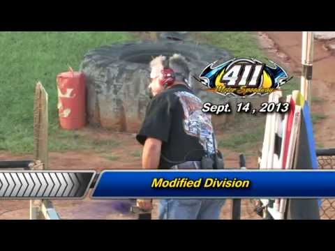 411 Motor Speedway   Modifieds   Sept 14 , 2013 - dirt track racing video image