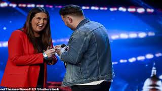 Britains Got Talent judge Simon Cowell in tears as auditioning singer pops the question   Daily Mail