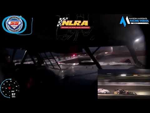 #9A Blake Anderson WISSOTA Late Model On-Board @ Sheyenne (8/15/21) - dirt track racing video image