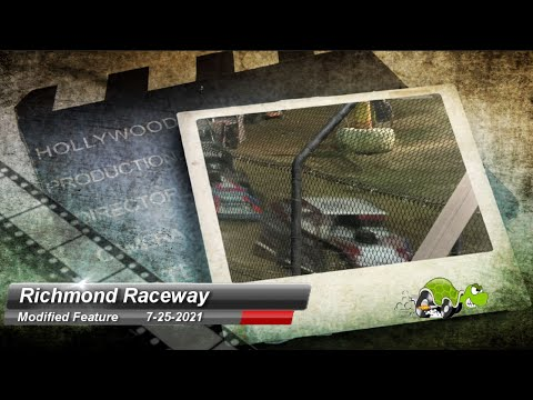 Richmond Raceway - Modified Feature - 7/25/2021 - dirt track racing video image