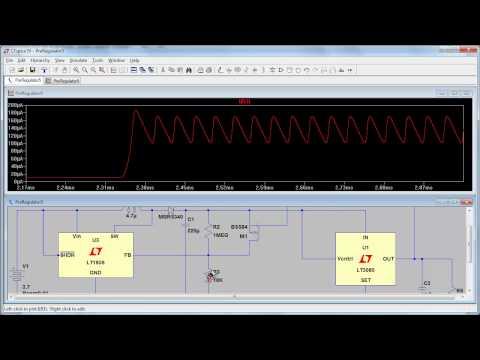 EEVblog #329 - Tracking Pre-Regulator LTspice Simulation