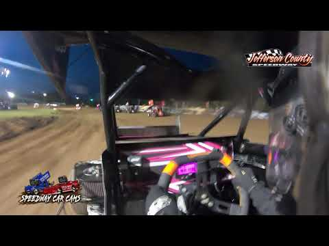 #9 Abigayle Lett - Restrictor - 7-16-2021 Jefferson County Speedway - In Car Camera - dirt track racing video image