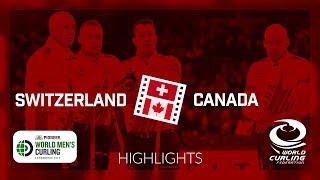 HIGHLIGHTS: Switzerland v Canada - Semi - Pioneer Hi-Bred World Men's Curling Championship 2019