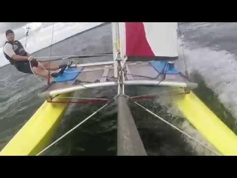 Hobie cat 16 - Extreme sailing in lake Dusia, 2014 - UCs3u2yNqJq-NmiUKNkd9a1g