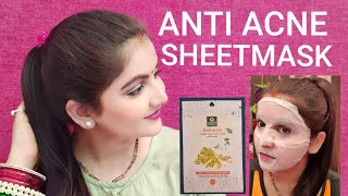 ANTI ACNE SHEET MASK REVIEW | ORGANIC HARVEST SHEET MASK | SKINCARE FOR ACNE PRONE OILY SKIN | RARA