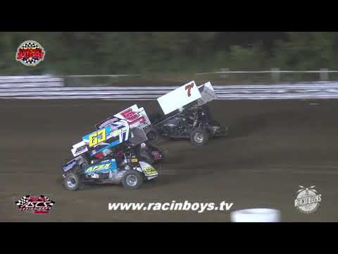 Lucas Oil ASCS Highlights Creek County Speedway 7 27 21 - dirt track racing video image