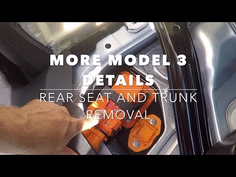 More Tesla Model 3 details (part 3), rear seat removal and looking