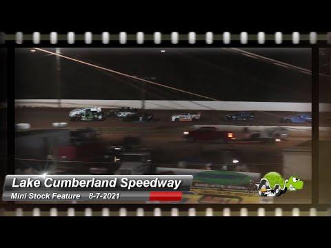 Lake Cumberland Speedway - Mini-Stock Feature - 8/7/2021 - dirt track racing video image