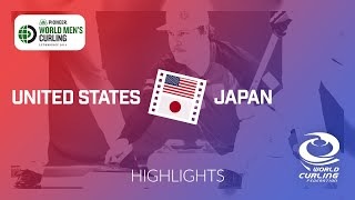 HIGHLIGHTS: United States v Japan - Pioneer Hi-Bred World Men's Curling Championship 2019