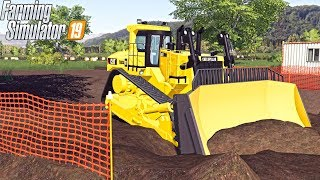 BOUGHT A BRAND NEW DOZER! | EXCAVATING COMPANY | FARMING SIMULATOR 2019