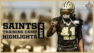 Saints Training Camp Highlights from Day 21 Joint Practice with Chargers | New Orleans Saints