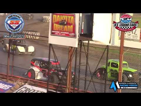 Sheyenne Speedway INEX Legends A-Main (5/23/21) - dirt track racing video image