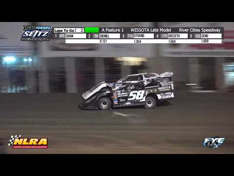 River Cities Speedway 9/9/21 NLRA Late Model Final Laps - dirt track racing video image