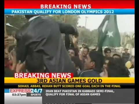 celeberation of winning gold medal