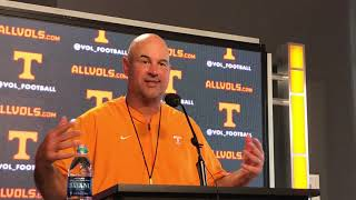 Jeremy Pruitt: Vols have 'set some goals' in all three facets