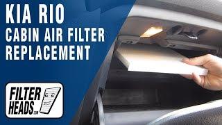 Sostituzione filtro aria abitacolo Kia Rio