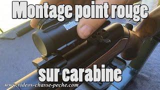 Montage point rouge TRS 25 sur carabine Maral avec Leupold QR