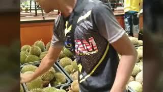 KENA PAKSA MAKAN DURIAN SAMPAI MUNTAH  #durianmanss2 #ridergrabfood #kecikcddchannel #vlog