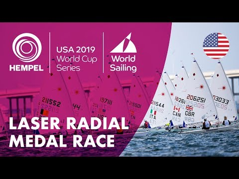 Laser Radial Medal Race | Hempel World Cup Series: Miami, USA