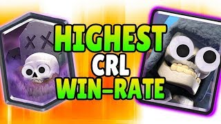 HIGHEST WIN RATE OF ANY CRL PRO DECK!   Clash Royale