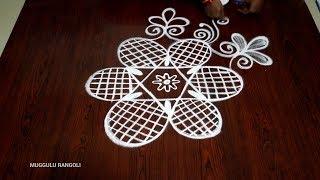 creative flower rangoli designs with out dots simple muggulu designs  easy kolam designs