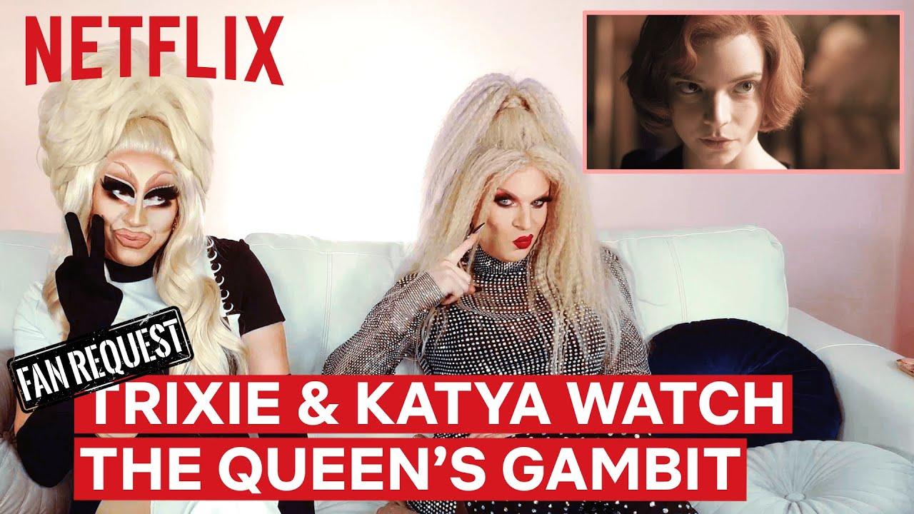 Drag Queens Trixie Mattel & Katya React to The Queen's Gambit | I Like to Watch | Netflix