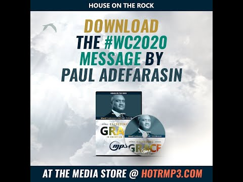 Missed Pastor Paul Adefarasin's #WC2020  message? Click the link below to get the Mp3 version!