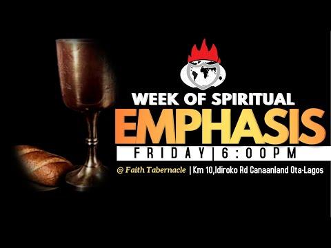 DOMI STREAM: DAY3  WEEK OF SPIRITUAL EMPHASIS  9, APRIL 2021.