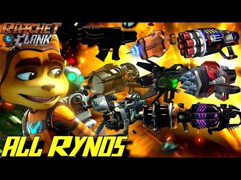 Ratchet & Clank - All RYNO Weapons (2002-2016) GAMEPLAY - UC-2wnBgTMRwgwkAkHq4V2rg