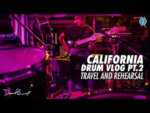 California Drum Vlog Pt. 2/3 // Travel and Rehearsal // Simply Worship Conference 2019