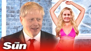 Boris Johnson tips Amber to win Love Island – but not THAT one!