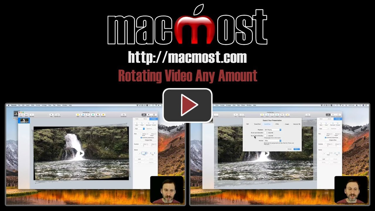 Rotating video any amount macmost ccuart Images