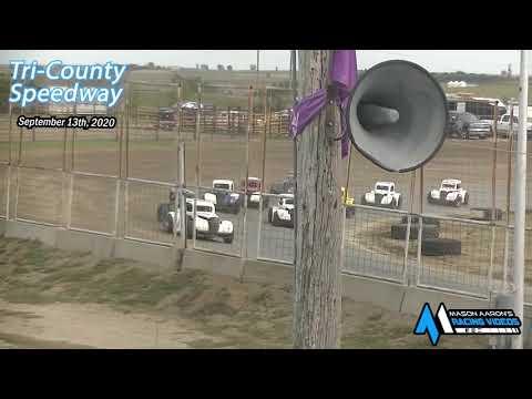 Tri-County Speedway INEX Legends A-Main (Sauerkraut 500 Night #2) (9/13/20) - dirt track racing video image