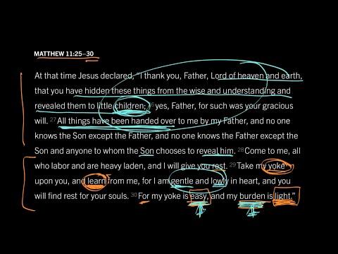 Matthew 11:2530 // Part 7 // Is His Yoke Really Easy?