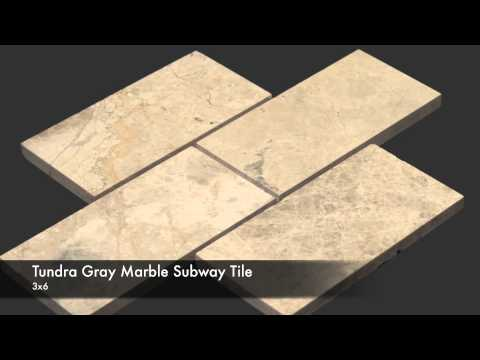 Tundra Gray Marble Tile, Mosaic, Moulding Collection