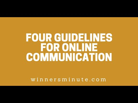 Four Guidelines for Online Communication // The Winner's Minute With Mac Hammond