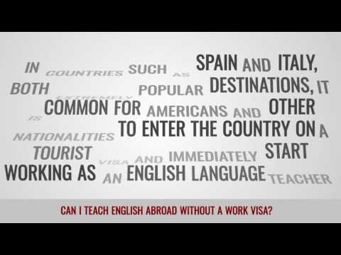 video answering if you can work as a TEFL teacher without a work visa abroad