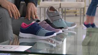 Vionic Suede & Mesh Adjustable Sneakers - Ema on QVC