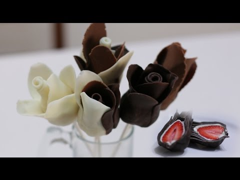 How to Make Chocolate Strawberry Roses | Easy Chocolate Rose Recipe - UCXjmSszjqfuEgLR7H5y1IAw
