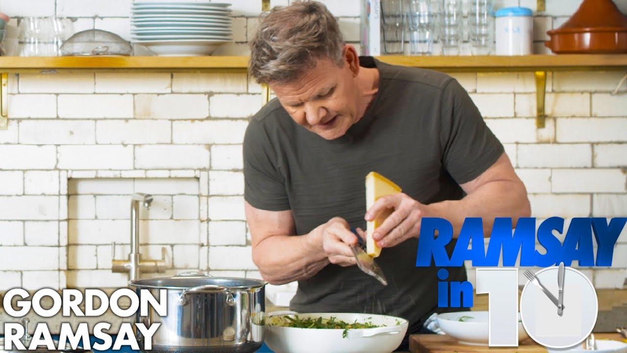 Can Gordon Ramsay Make a Cheesy Green Pasta in 10 Minutes?   Ramsay in 10